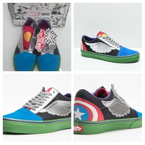 Vans x Marvel Avengers Old Skool Skateboard shoes NWT